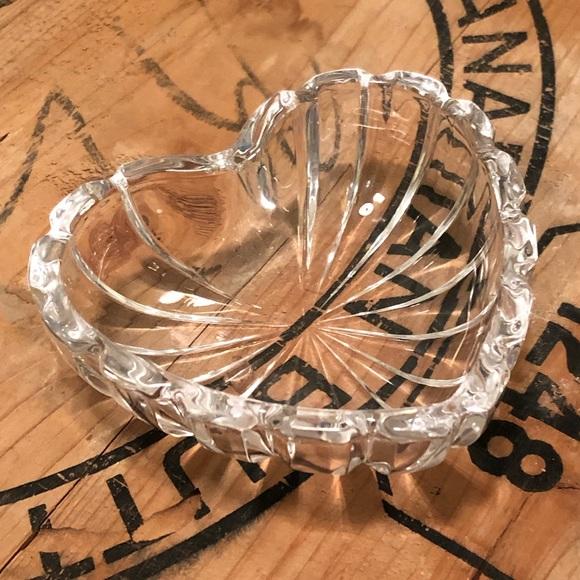 Vintage Glass Heart Bowl